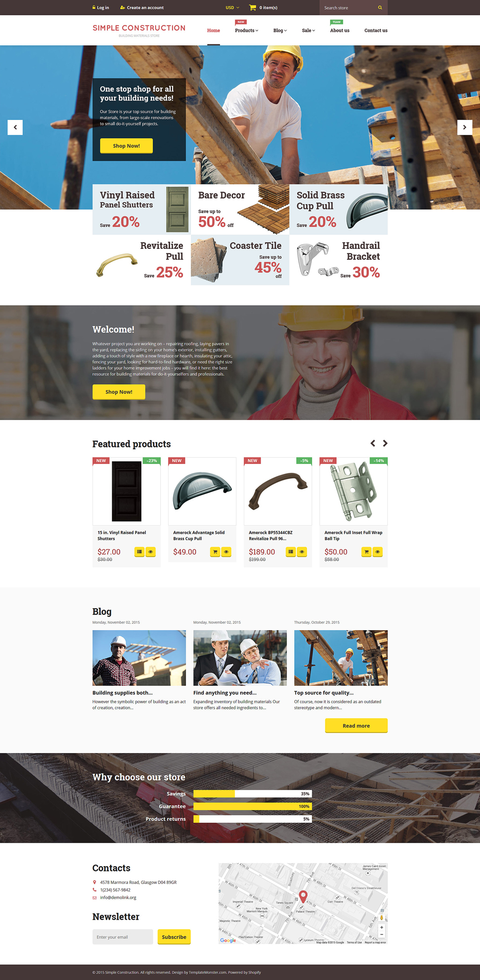 Simple Construction Store (Shopify ecommerce theme) Item Picture