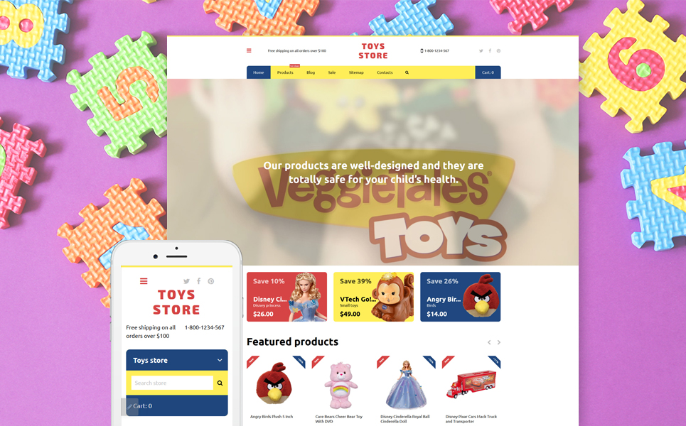 Toys Store (website theme) Item Picture
