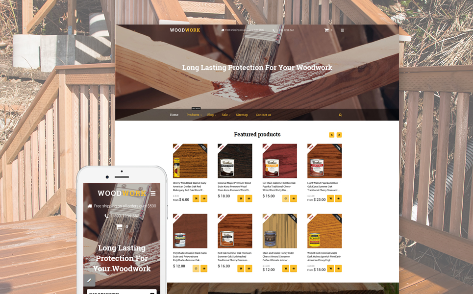Woodwork (Shopify ecommerce theme) Item Picture