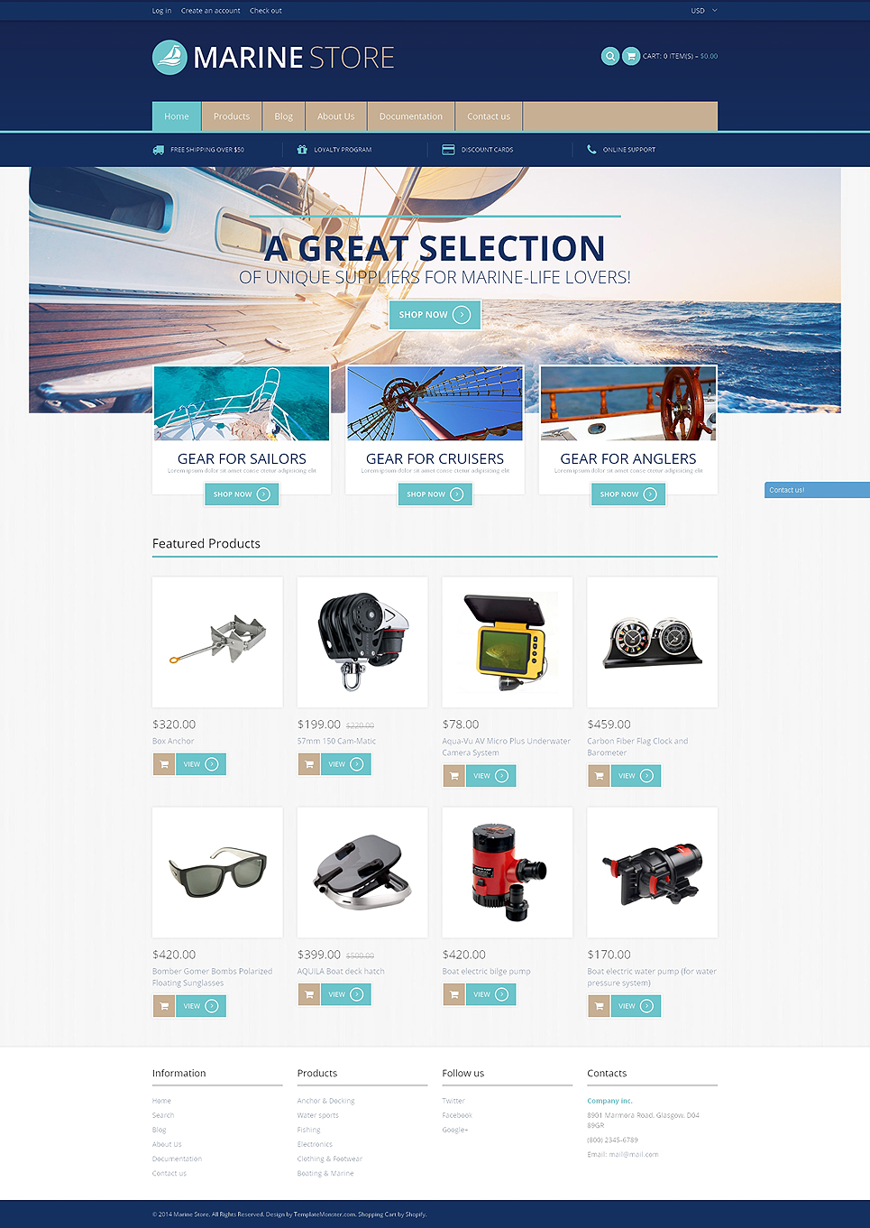 Marine Store (ecommerce theme) Item Picture