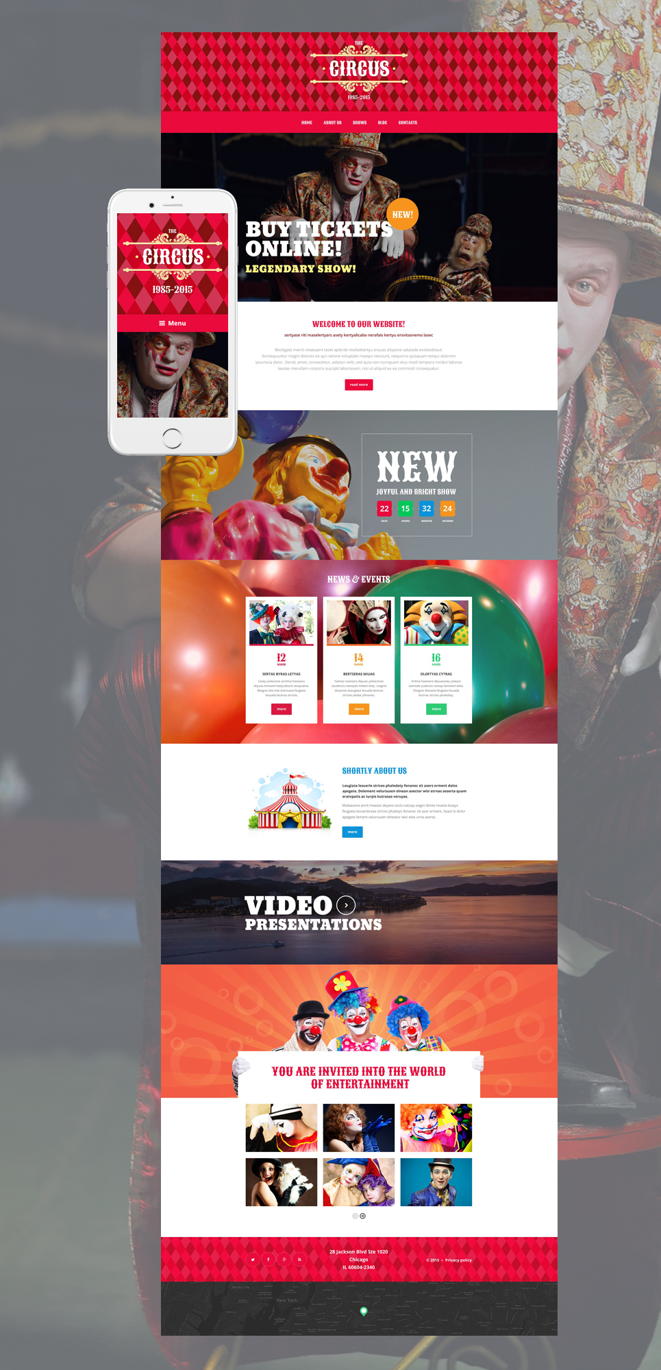Circus Tent (theme for your WordPress site) Item Picture