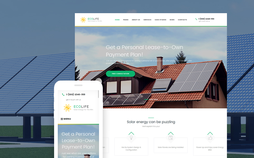 Eco Life (theme for your WordPress site) Item Picture