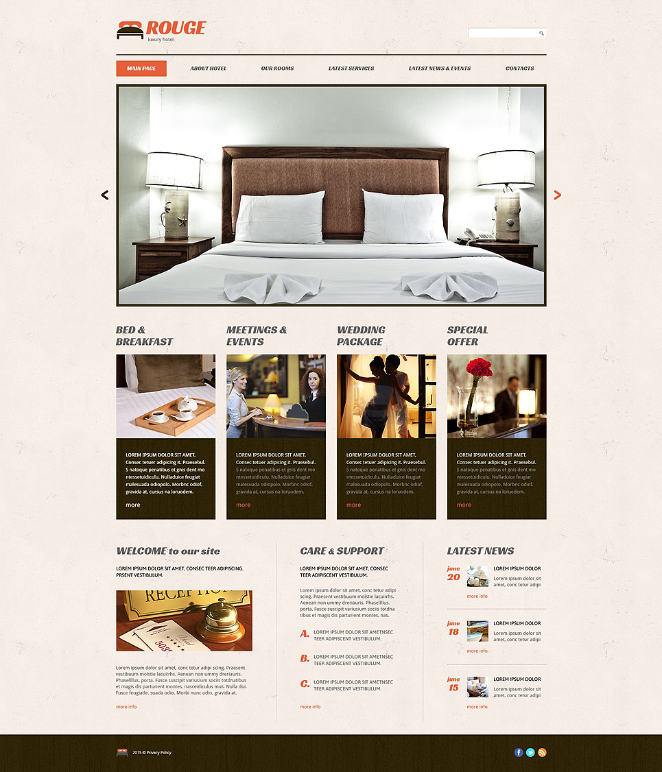 Rouge Hotel (WordPress template) Item Picture