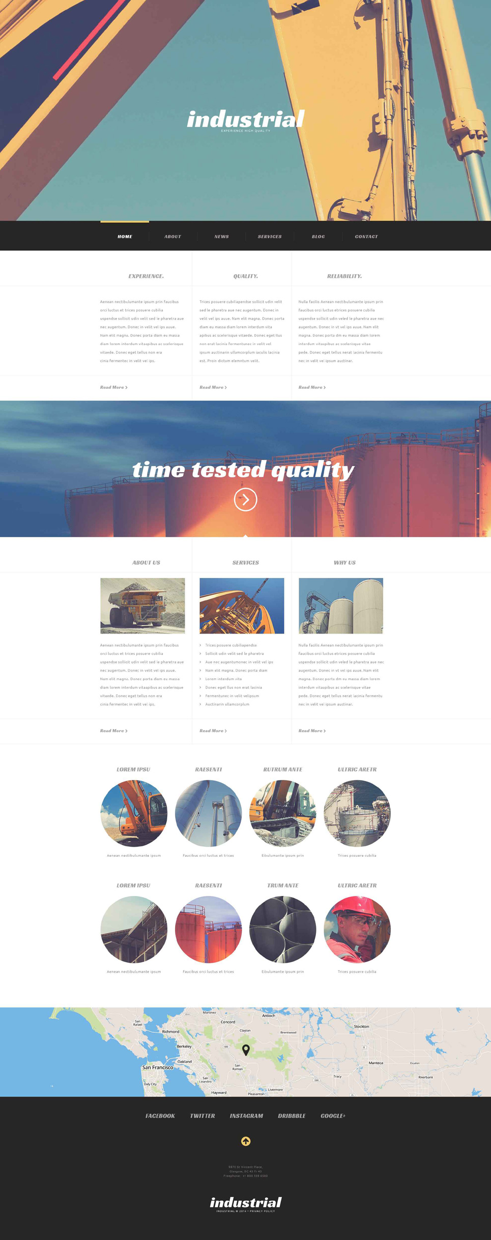 Industrial Construction (WordPress theme) Item Picture