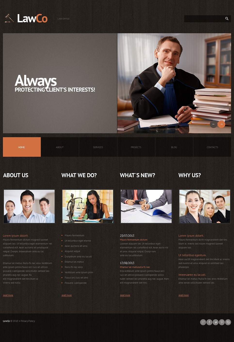 Law (theme for WordPress) Item Picture
