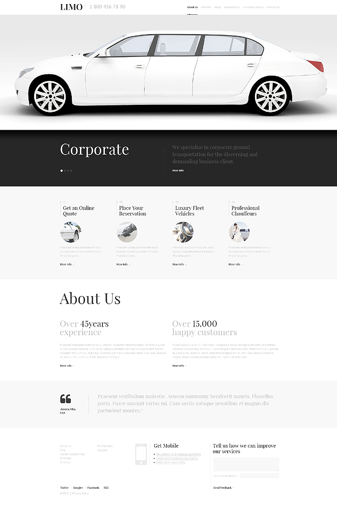 Limousine Services (website theme) Item Picture