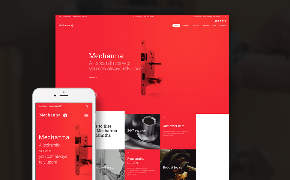 Mechanna (theme for your WordPress site) Item Picture