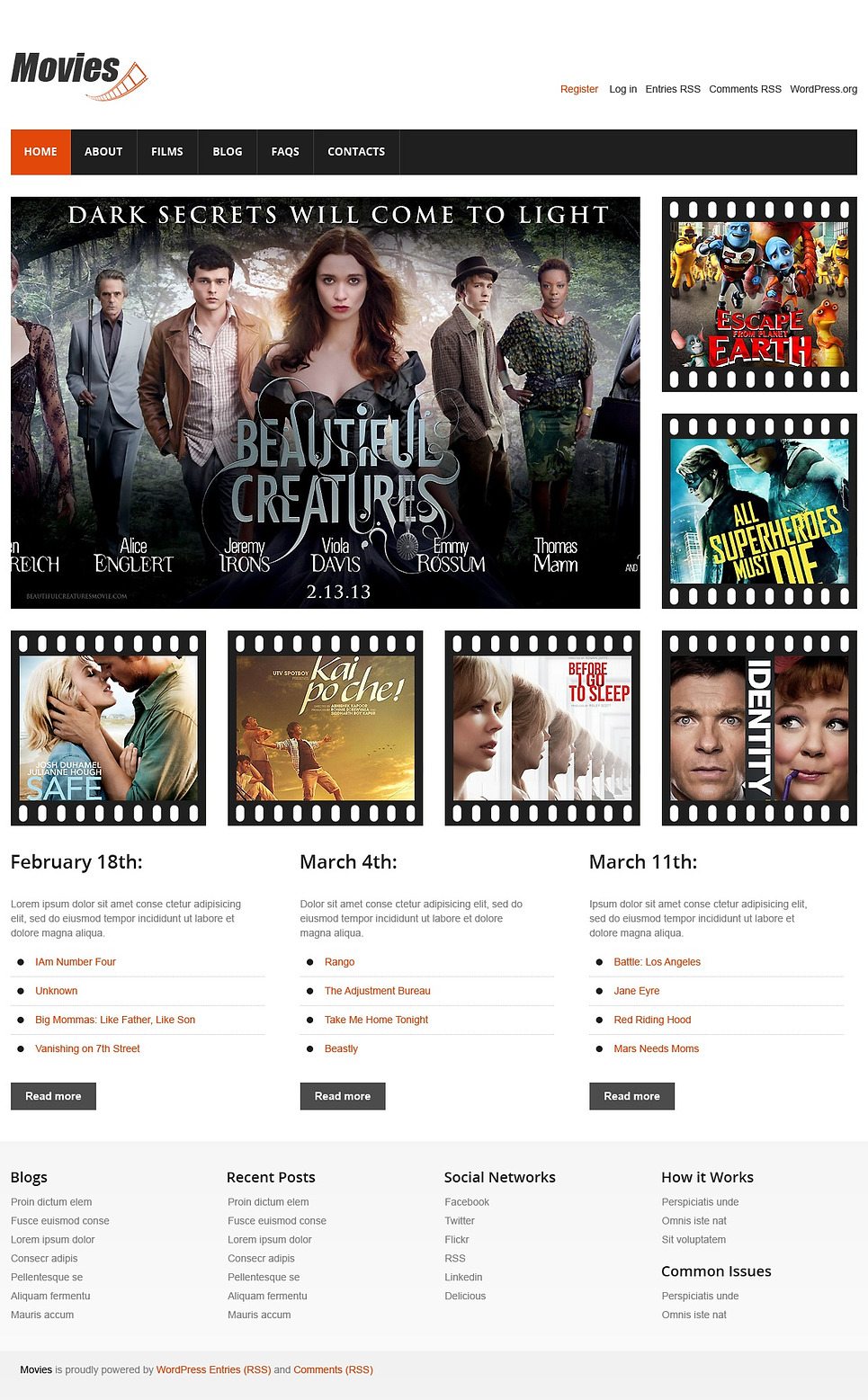 Movie Blog (template) Item Picture