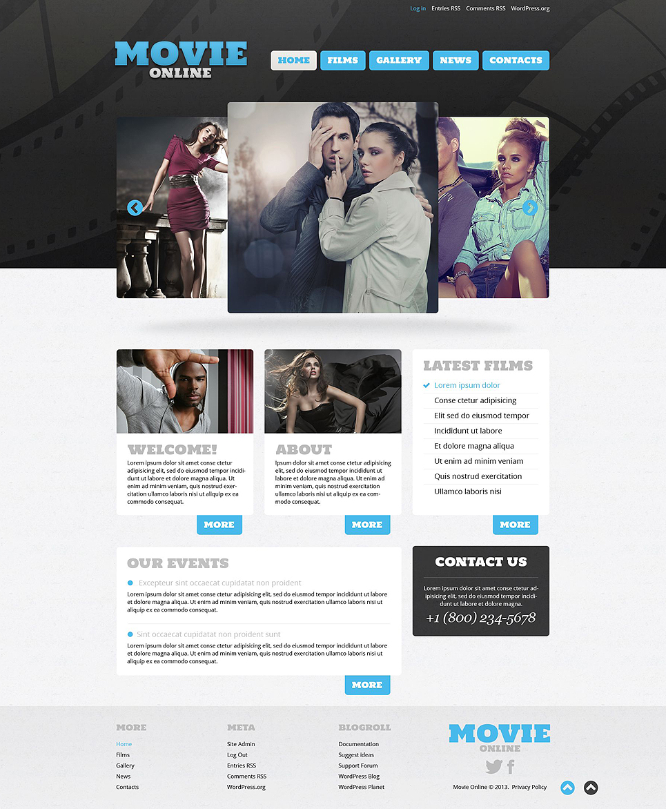 Movie Blue (theme for WordPress) Item Picture