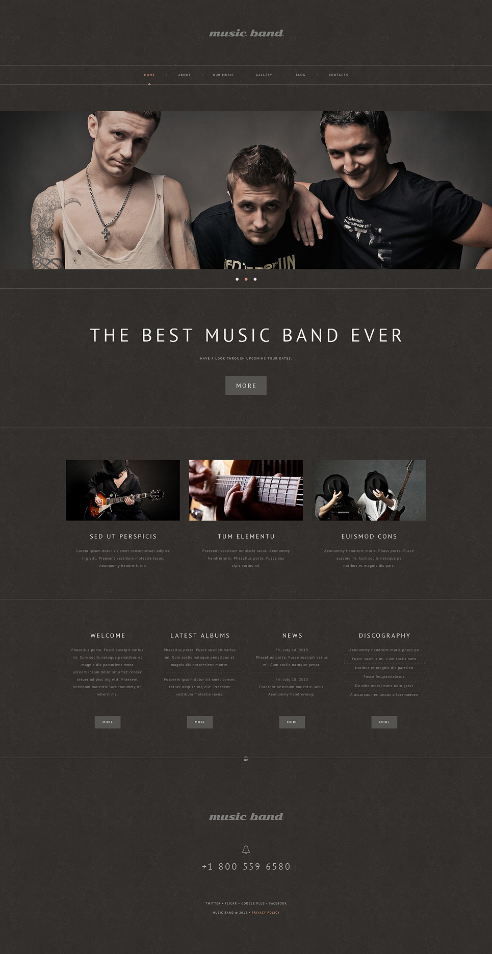 Musique (theme for your WordPress site) Item Picture