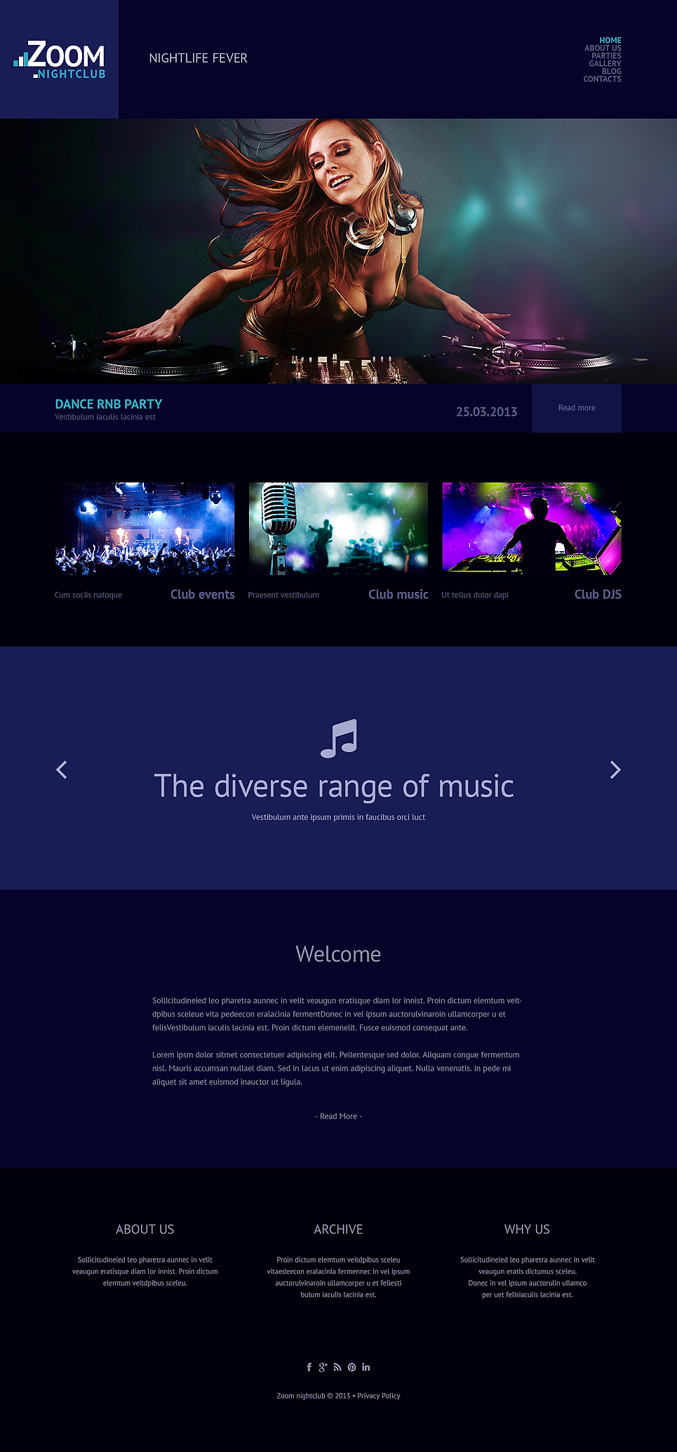 Clubbing (theme for WordPress) Item Picture