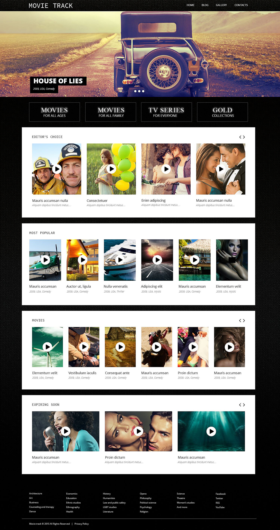 Online Movies (WordPress template) Item Picture