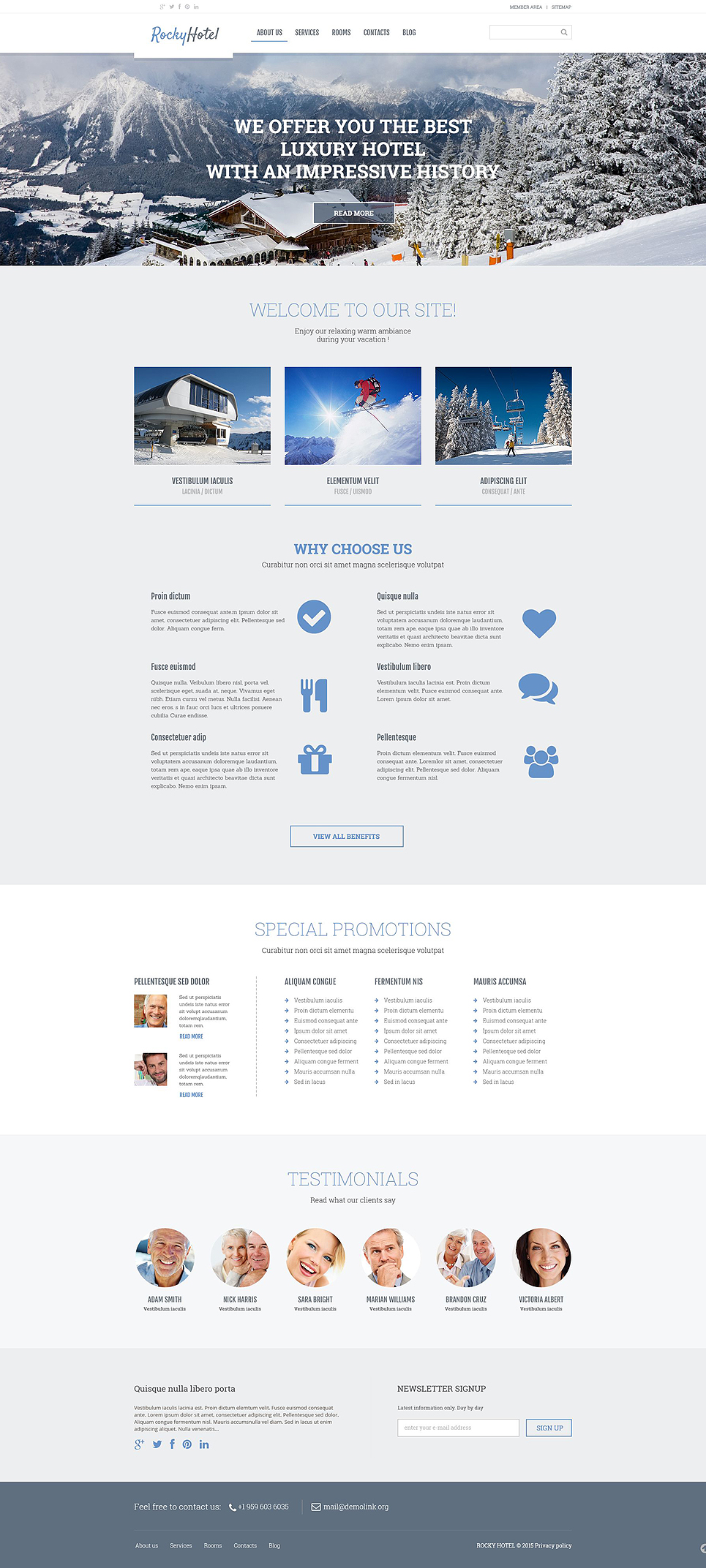 Rocky Snow-tel (theme for your WordPress site) Item Picture