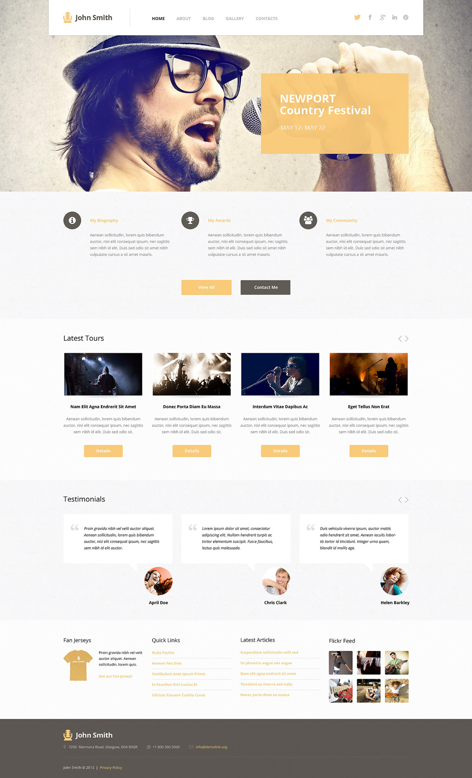 Singer (theme for your WordPress site) Item Picture