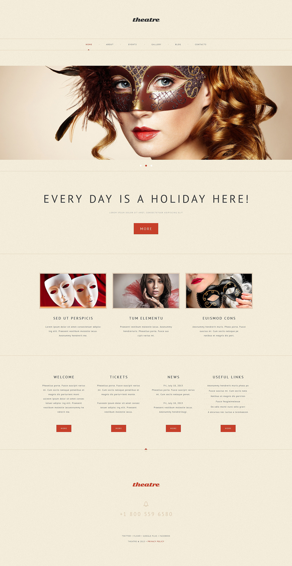 Theatrical Production (WordPress template) Item Picture