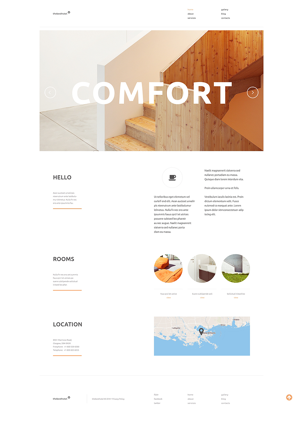 Travelers Accommodation (theme for your WordPress site) Item Picture