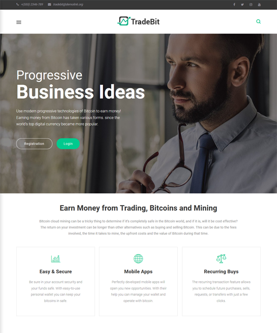 financial wordpress themes for finance websites