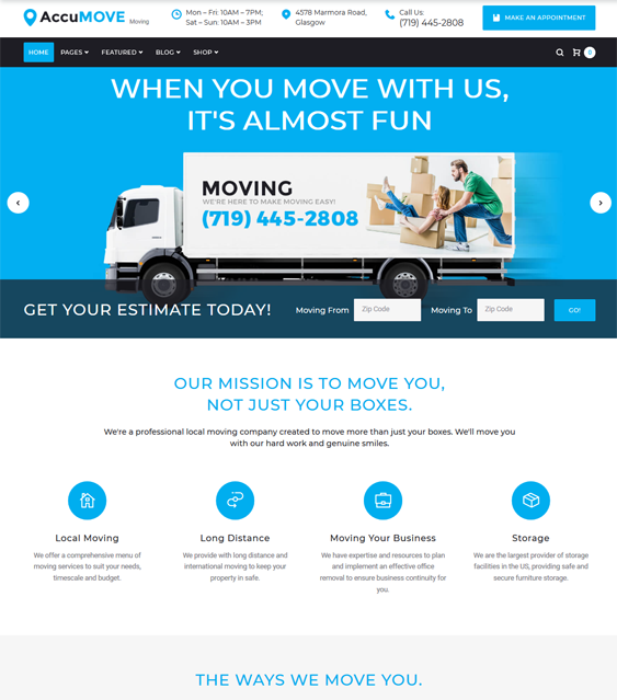 7 Of The Best Wordpress Themes For Movers Moving Companies Buildify