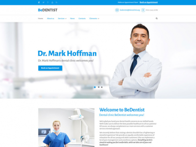 best drupal themes dentists dental clinics feature
