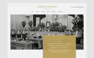 best funeral home joomla wordpress drupal themes templates feature
