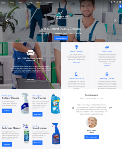 best joomla templates for maids cleaners cleaning companies feature