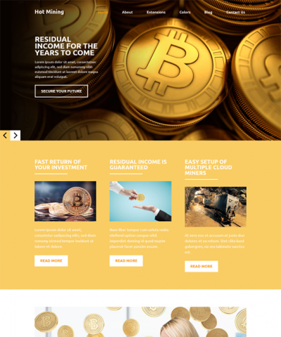 best bitcoin cryptocurrency joomla templates feature