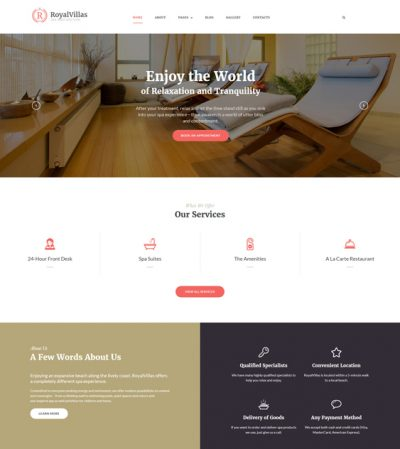 best hotel joomla templates feature