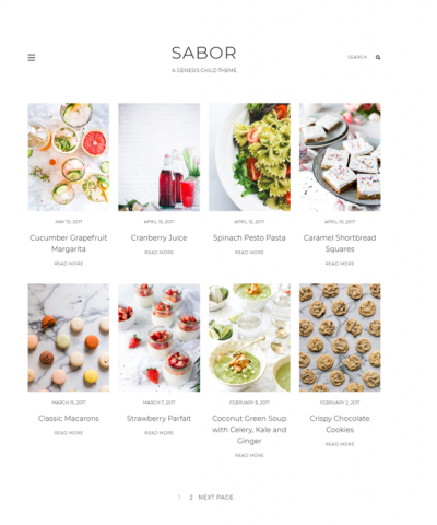 best wordpress themes food blogs recipe websites feature