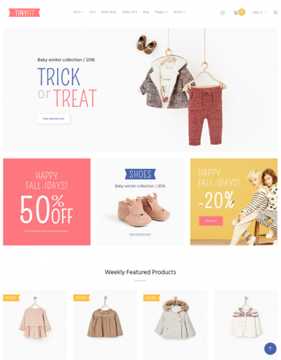 best woocommerce themes kids babies children feature