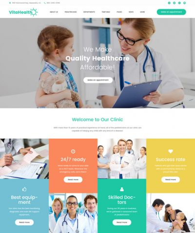 best joomla templates pediatricians pediatric clinics feature