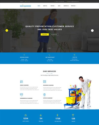 best wordpress themes cleaning companies cleaner maid feature