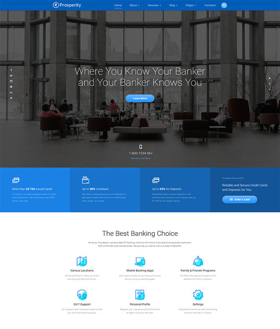 best bootstrap website templates banks feature