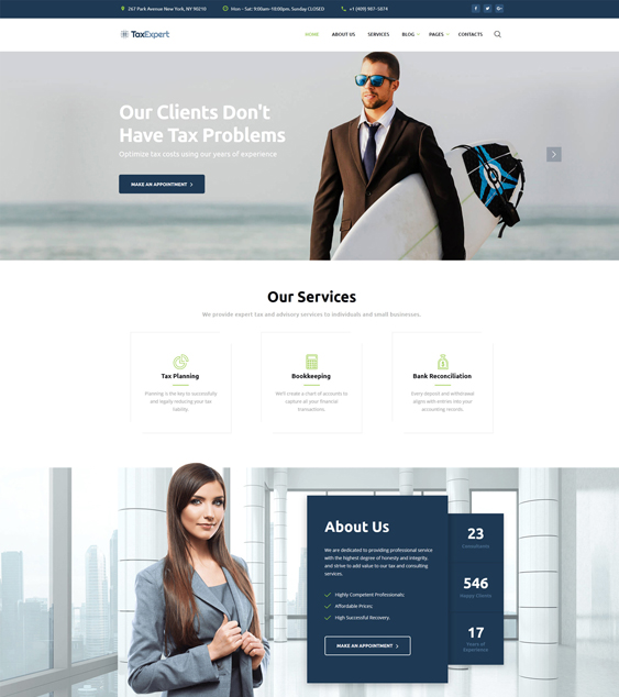 best bootstrap website templates accountants accounting firms tax advisors feature