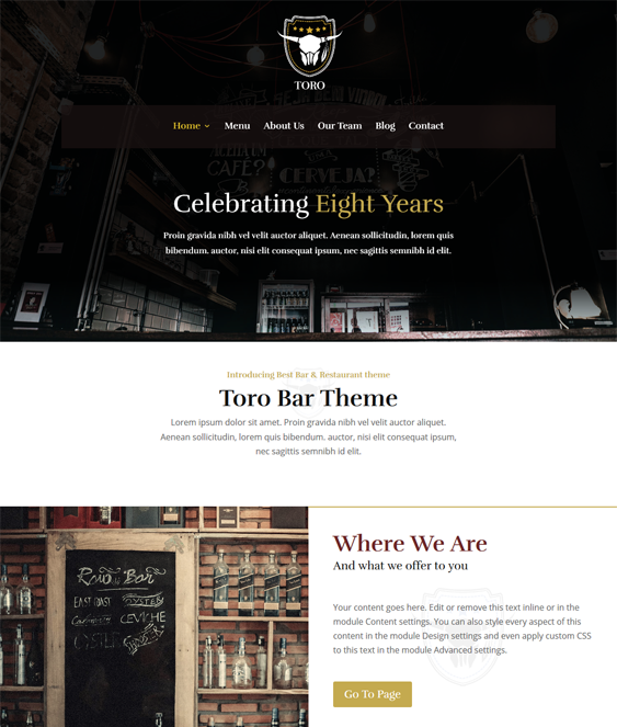 wordpress themes bars pubs