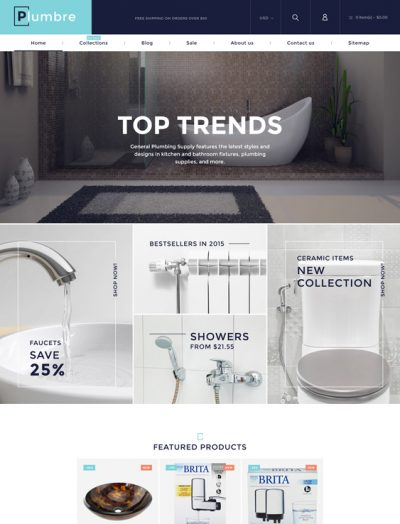 best shopify themes home improvement building supply stores feature