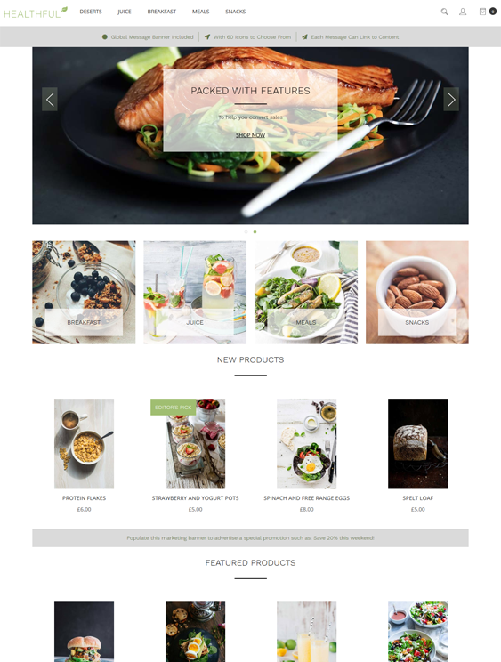 bigcommerce themes for grocery stores feature