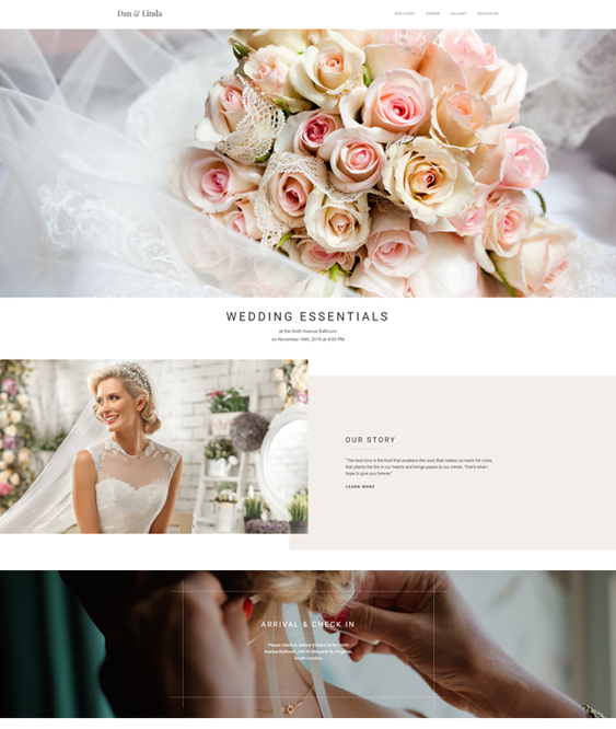 wedding bridal joomla templates