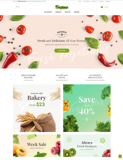 best woocommerce themes for selling food feature