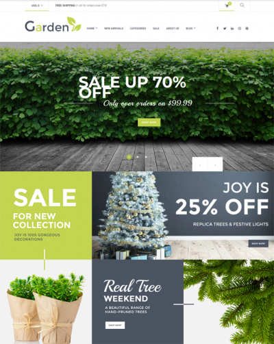 best woocommerce themes for selling gardening and landscaping supplies feature