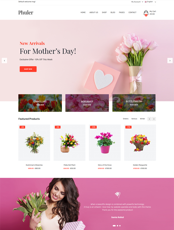 woocommerce themes for selling flowers and plants