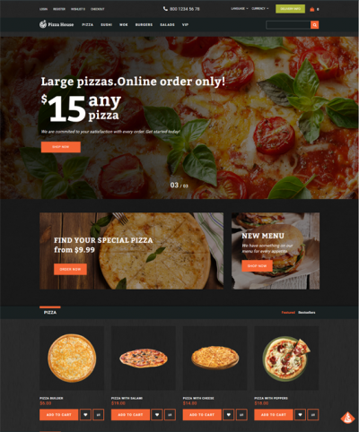 best restaurant opencart themes feature