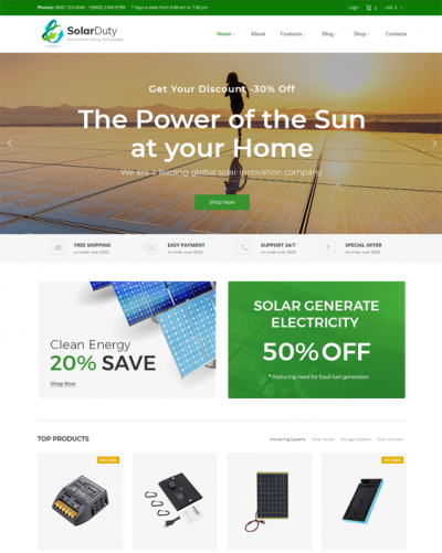 best woocommerce themes green organic eco-friendly products feature
