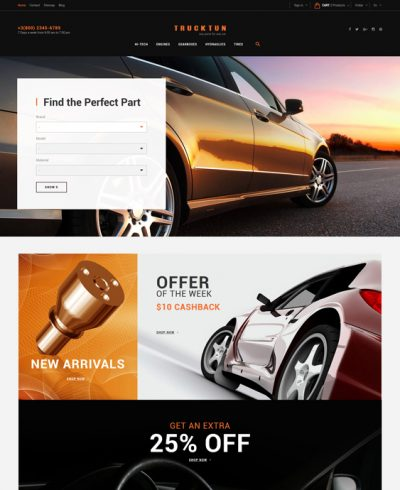 best car vehicle automotive prestashop themes feature