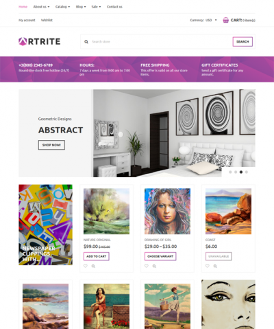 best shopify themes artwork prints paintings feature