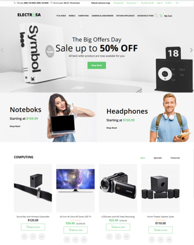 best opencart themes for selling eletronics stores feature