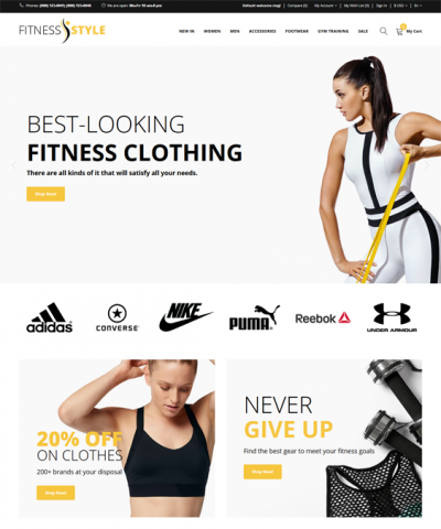 best opencart themes gym fitness sports stores feature