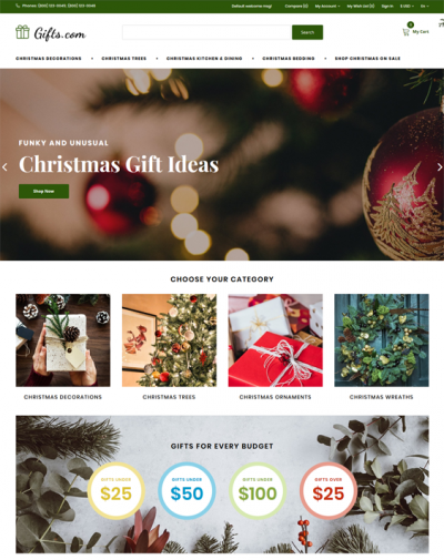best opencart magento shopify themes for christmas ecommerce websites feature
