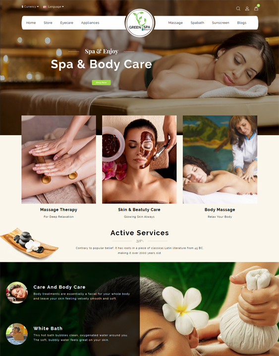 OpenCart themes for selling makeup, hair products, cosmetics, perfume, and beauty products