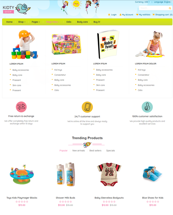 woocommerce themes for kids babies children