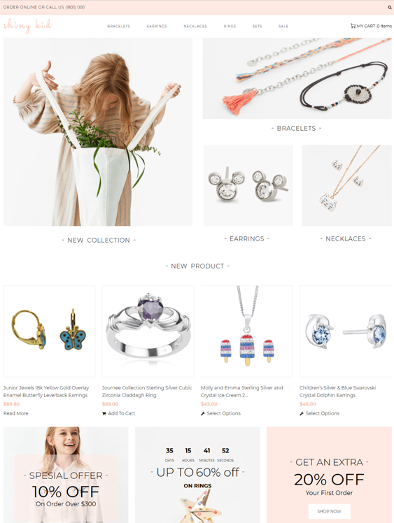 woocommerce themes for selling jewelry and watches